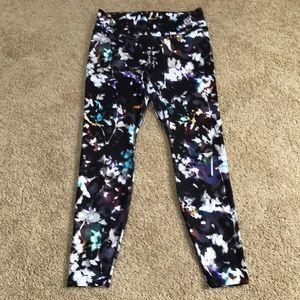 New! Nike XL purple/ black performance tights